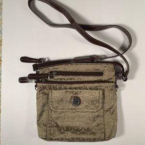 Giani Bernini Tan and brown Crossbody bag